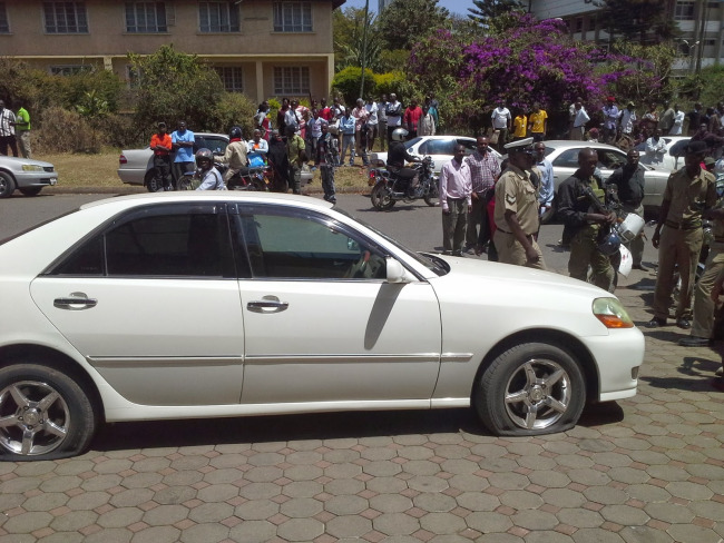 Gari la Vaileth Mathias Aliyepigwa risasi begani